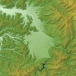 Ōno Basin Relief Map, SRTM-1.jpg