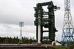 Вывоз и установка ракеты космического назначения «Ангара-1.2ПП» на стартовом комплексе космодрома Плесецк 17.jpg