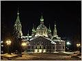 Ночной Челябинск. Храм на Алом поле - panoramio.jpg