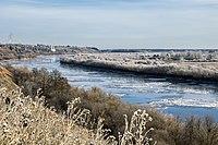 Река Молома во время ледостава у села Юрьево Котельничского района Кировской области.jpg