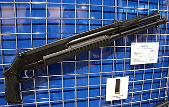Pump action - The RMB-93 pump action shotgun which has the barrel below the magazine tube