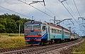 ЭР2Т-7222, Украина, Днепропетровская область, перегон Илларионово - Игрень (Trainpix 136470).jpg