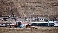 惠山满浦青年铁路 烟浦站 Pukpu Line (Hyesan Manpho Chongnyon Line) リムポ駅 (リムト駅) 림포역 (림토역) Rimpo (Rimto) - panoramio.jpg