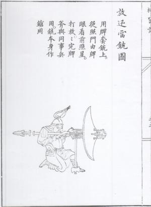 Xun Lei Chong - Musketeer firing a xun lei chong.