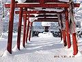 雪に埋もれた、お稲荷さん - panoramio.jpg