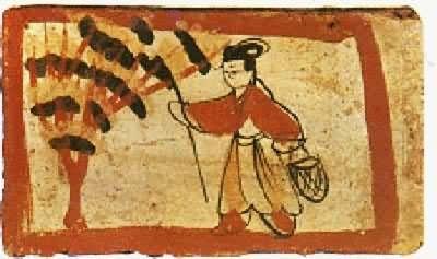 魏晉墓磚畫 採桑圖