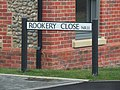 -2020-01-07 Street name sign, Rookery Close, Mundesley.JPG