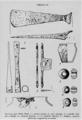 01962 Wallburg in Szeligi, Spätrömische Axt des 3. Jahrhunderts, Speer aus der Völkerwanderungszeit, Trense.png