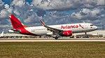 02092018 Avianca N748AV A320 KMIA NAEDIT (26660786768).jpg