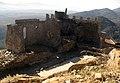 025 Castell de Montsoriu, pati d'armes i restes de la capella.jpg