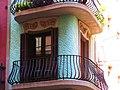 036 Cases Antoni Par, c. Gran de Gràcia 262-264 - c. Nil Fabra 1 (Barcelona), balcó cantoner.jpg