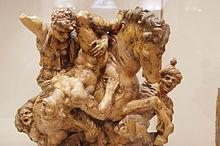Giovan Francesco Rustici - Battaglia, da uno studio di Leonardo, terracotta.