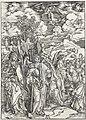 07. Albrecht Dürer, Apokalypsa, V. Čtyři andělé vzdorující větrům, Národní galerie v Praze.jpg