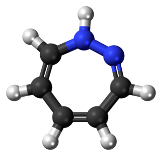 1,2-Diazepine - Image: 1,2 Diazepine 3D ball