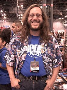 DeCandido at the New York Comic Convention in October 2010