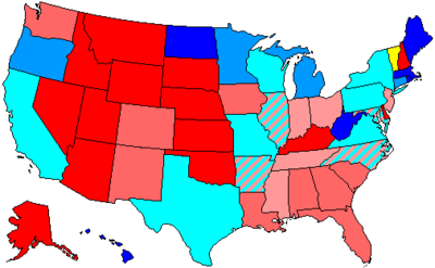 United States House Of Representatives Elections Wikipedia - Us party map