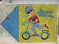 1210 Aistgasse 8-30 - Mosaik-Wegweiser (9) von Hilde Leiter 1969 IMG 3525.jpg