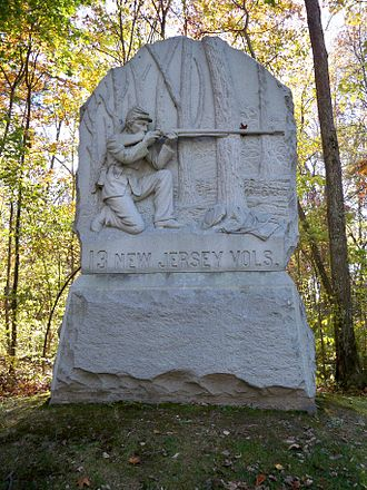 13th New Jersey Volunteer Infantry - A monument to the 13th New Jersey at Gettysburg National Military Park