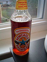 A pint of Newcastle Brown Ale