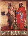 14th-century unknown painters - St Bartholomew and St Thomas - WGA23516.jpg