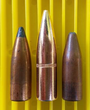 Frangible bullet - Image: 150grain.30caliber