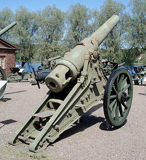 6-inch siege gun M1877 - 6-inch siege gun M1877, rear view.