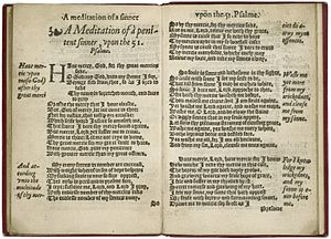 Anne Locke - Several of the sonnets from Locke's A Meditation of a Penitent Sinner in a 1560 edition that does not attribute the sequence to her.