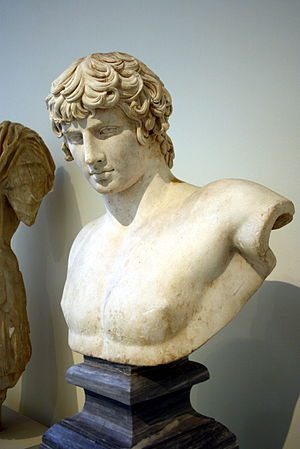History of Patras - A bust of Antinous found in Patras (130-138 CE). It is kept in the National Archaeological Museum of Athens.