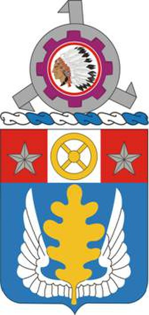 Coats of arms of U.S. Army units - Image: 168Spt Bn COA