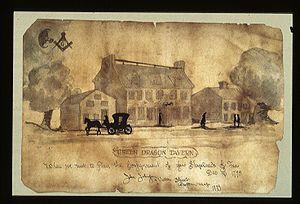 Union Street (Boston) - Image: 1773 Green Dragon Tavern Boston
