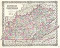 1855 Colton Map of Kentucky and Tennessee - Geographicus - KentuckyTennessee-colton-1855.jpg