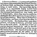 1860 woman dressed as man OrdwayHall WisconsinDailyPatriot May5.png