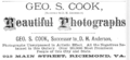 1881 Geo S Cook photographer Richmond Virginia advert.png