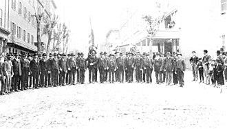 47th Pennsylvania Infantry Regiment - Surviving members of the 47th Pennsylvania Infantry at their annual reunion, 1887.