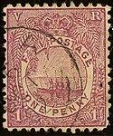 1891ca 1d rosy mauve Fiji used Yv42.jpg