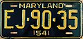 1954 Maryland License Plate.JPG