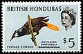 1962 5 dollar stamp British Honduras.jpg