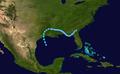 1987 Atlantic tropical storm 1 track.png