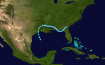 1987 Atlantic tropical storm 1 track.png