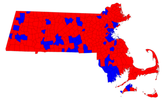 Massachusetts gubernatorial election, 1990 - Image: 1990 MA Governor