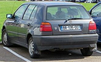 Volkswagen Golf Mk3 - 1993 Volkswagen Golf 5-door hatchback