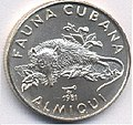 1 песо. Куба. 1981. Фауна Кубы - Кубинский щелезуб.jpg