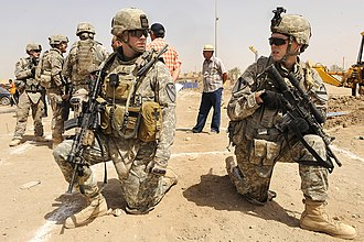5th Cavalry Regiment - Soldiers of 2nd Battalion, 5th Cavalry Regiment on patrol near Ur, Iraq. (2009)