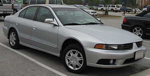 2002-2003 Mitsubishi Galant photographed in USA.