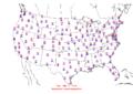 2006-01-19 Max-min Temperature Map NOAA.png