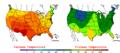2006-06-06 Color Max-min Temperature Map NOAA.png