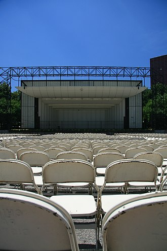 Petrillo Music Shell - View of the bandshell from the seats.