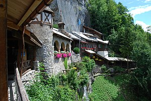 Beatenberg - Restaurant and chapel at the entry of Saint Beatus Caves below Beatenberg