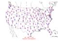 2012-01-27 Max-min Temperature Map NOAA.png