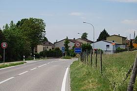 Ortseingang von Meinisberg